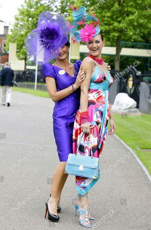 Ilda Di Vico and Chelsea Baker. Hats both by Ilda Di Vico