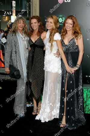 Stock Image of Blake Lively with sisters Robyn Lively and Lori Lively and their mother Elaine Lively