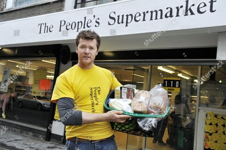 The People's Supermarket Launches In Holborn Today Arthur Potts Dawson Chef And Co-founder Photograph By Glenn Copus
