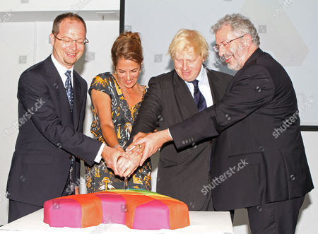 Boris Johnson Opens The Arlington Homeless Center In Camden Witht He Help From Tracey  Emin Left Kevin Beirne Group Director And Right Sir Bob Kerslake...