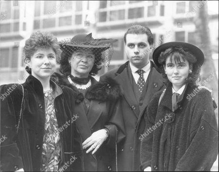 Grainne Andrews and her children Emma (left) Fergal and Niamh