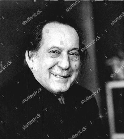 Editorial photo of Italian Artist Pietro Annigoni. Died November 1988