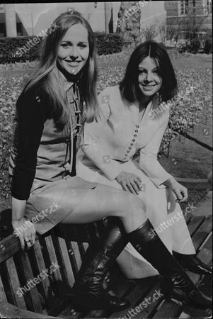 Hilary Dwyer (left) And Anna Calder-marshall Actresses