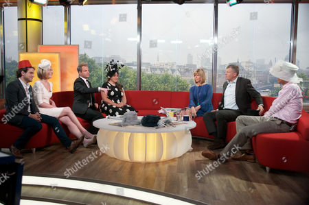 Steve Hargrave, Kirsty McCabe and Julian Bennett and Vivien Sheriff with Kate Garraway, Adrian Chiles and Dan Lobb