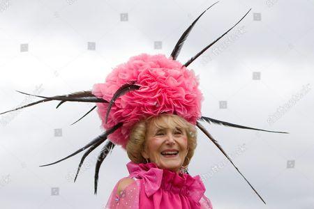 Florence Claridge, wearing a creation by hat designer David Shilling