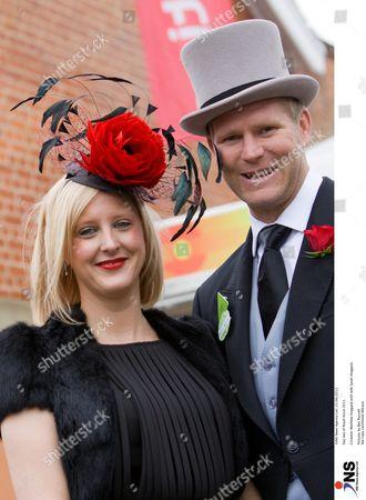 Cricketer Matthew Hoggard with wife Sarah Hoggard.