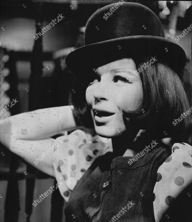 Actress Fenella Fielding In Bowler Hat On Tv Show The Avengers 1964.