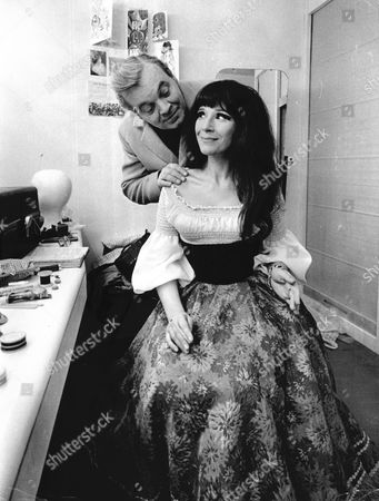 Actress Fenella Fielding With Patrick Wymark In Dressing Room 1970.