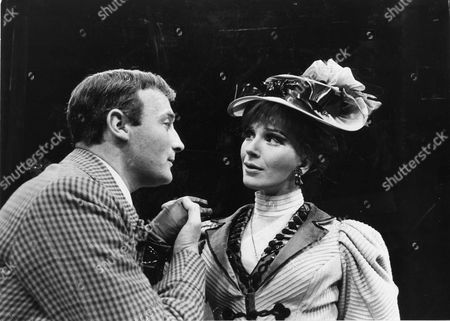 Actors Edward Woodward And Fenella Fielding In Producton Of The High Bid 1967.