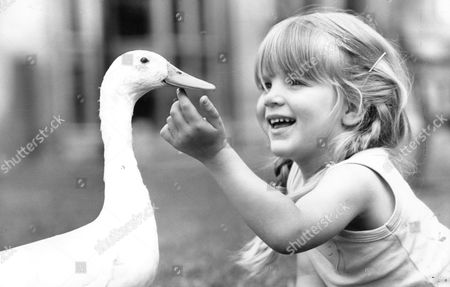 Emma West With Jeremiah The Duck.