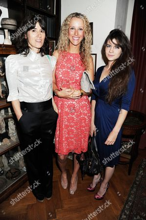 Stock Picture of Bella Freud, Kate Melhuish and Martha Freud