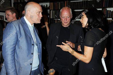 John Malkovich, David Gilmour and Polly Gilmour