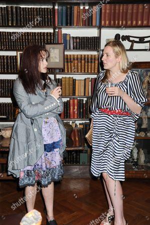 Helena Bonham Carter and Susie Boyt