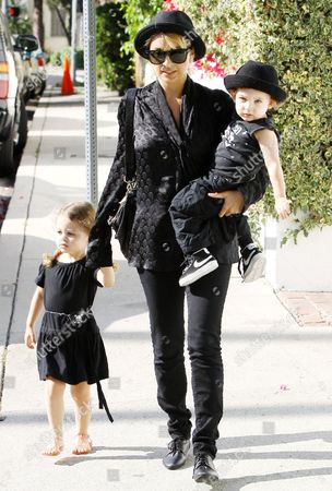 Nicole Richie with children Harlow Madden and Sparrow Madden