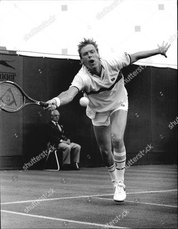 Tennis Player Peter Fleming At Wimbledon 1985