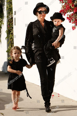 Nicole Richie with children Harlow Richie-Madden and Sparrow Madden