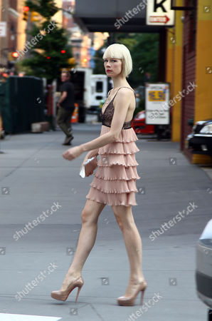 Editorial image of Erin Featherston Out and About in New York, America - 15 Jun 2011