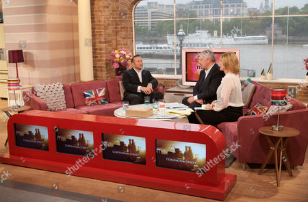 Coronation Street Executive Producer, Phil Collinson with Eamonn Holmes and Ruth Langsford