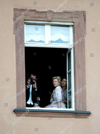 Stock Picture of Prince Nikolaos, Queen Anne-Marie and Princess Alexia