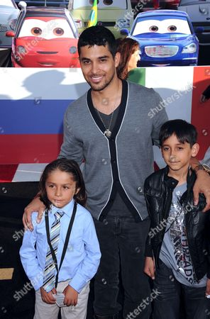 Stock Image of Wilmer Valderrama, brother and Asher Bradshaw
