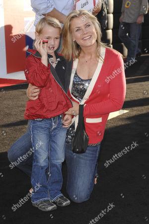 Alison Sweeney and son Benjamin Sanov