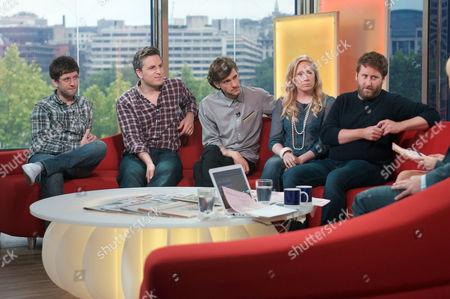 Horrible Histories cast - Ben Willbond, Mathew Baynton, Martha Howe-Douglas, Laurence Rickard and Jim Howick