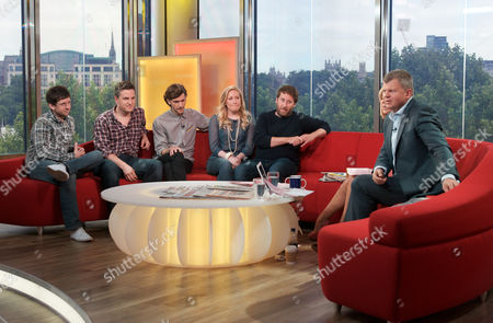 Horrible Histories cast - Ben Willbond, Mathew Baynton, Martha Howe-Douglas, Laurence Rickard and Jim Howick, Kate Garraway and Adrian Chiles