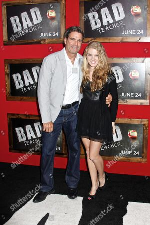Stock Image of Mario Singer and daughter Avery Singer