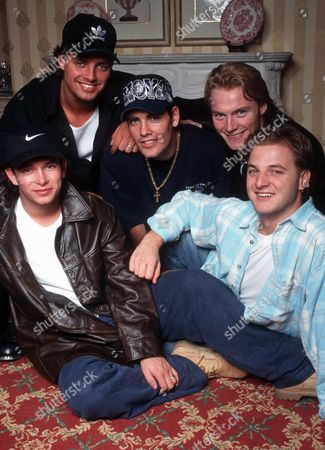 Boyzone in London - Stephen Gately, Keith Duffy, Shane Lynch Ronan Keating and Mikey Graham