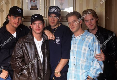 Boyzone in London - Keith Duffy, Stephen Gately, Shane Lynch, Mikey Graham and Ronan Keating