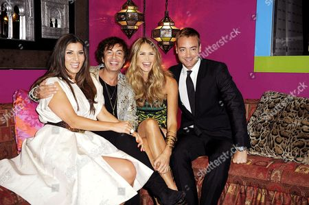 Stock Image of Grace Woodward, Julien MacDonald, Elle MacPherson and Charley Speed