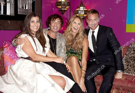 Stock Picture of Grace Woodward, Julien MacDonald, Elle MacPherson and Charley Speed
