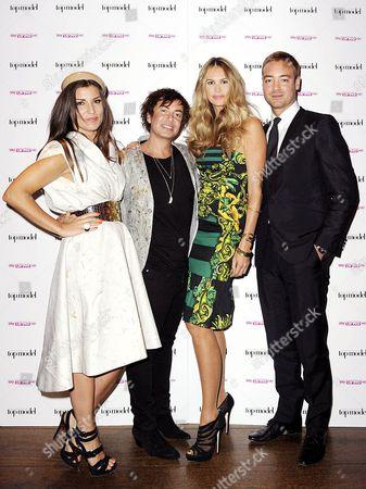 Grace Woodward, Julien MacDonald, Elle MacPherson and Charley Speed