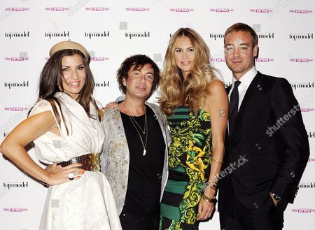 Stock Photo of Grace Woodward, Julien MacDonald, Elle MacPherson and Charley Speed