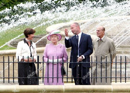 The Duchess of Northumberland, Queen Elizabeth II, Alan Shearer and Prince Philip
