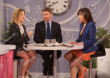 Tiffanie Darke, Andrew Pierce and Lorraine Kelly