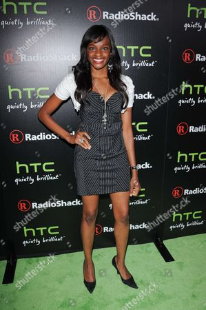 Editorial photo of RadioShack HTC EVO 3D launch in west Hollywood, Los Angeles, America - 23 Jun 2011