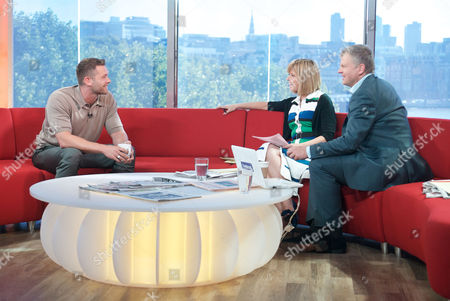Johnny Partridge with Kate Garraway and Adrian Chiles