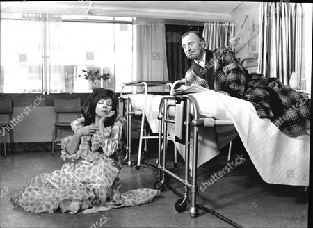 Actress Fenella Fielding Is Pictured In 'doctor In Clover' With Arthur Haynes