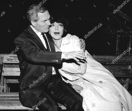 Actor Dick Emery (died 2/1/1983) With Actress Fenella Fielding During Rehearsals For The New Play 'luv' At The New Arts Theatre