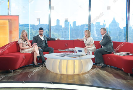 Stock Image of Anna Williamson and Dr Bob Khanna with Kate Garraway and Adrian Chiles