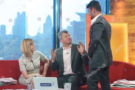 Kate Garraway and Adrian Chiles with Dr Bob Khanna