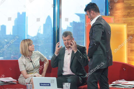 Stock Picture of Kate Garraway and Adrian Chiles with Dr Bob Khanna