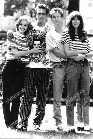 Stars Of Film 'shag' (l-r) Bridget Fonda Robert Rusher Page Hannah And Scott Coffey.