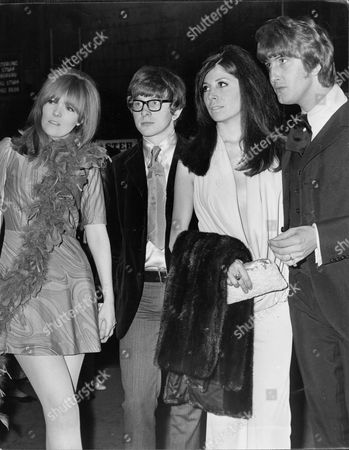 Editorial image of L/r: Betsy Doster Peter Asher Sharon Sheeley And Gordon Waller. Members Of Pop Duo 'peter And Gordon' With Their Girlfriends At A First Night.