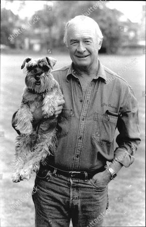 Editorial picture of Actor William Franklyn And His Pet Dog Romy.