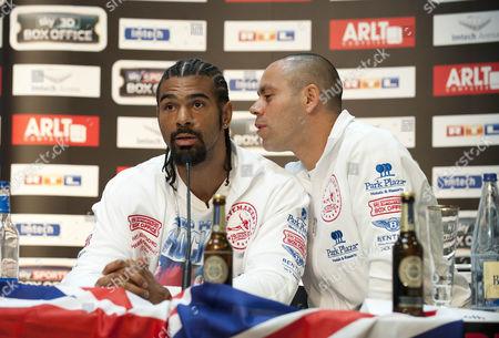 David Haye and trainer Adam Booth