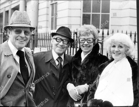 Comedians Dickie Henderson And Arthur Askey Pictured With Two Ladies.