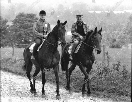Kristina Gifford Adn Father Horse Trainer Josh Gifford On Horseback 1989.
