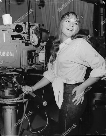Actess And Singer Dana Gillespie With Televsion Camera In 1965.